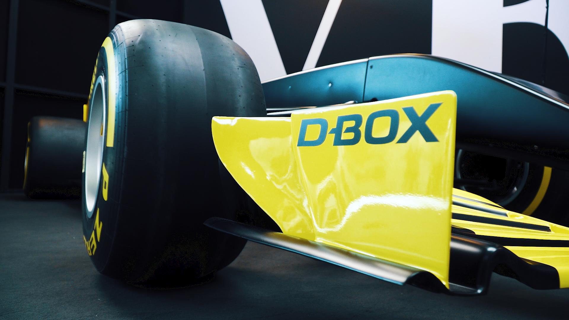 D-BOX labeled formula 1 car